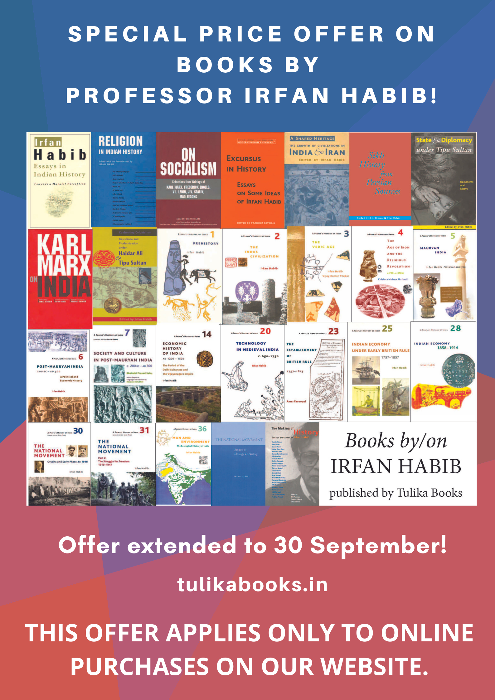 Special price offer on books by Irfan Habib